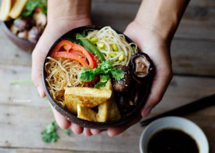 Recette de vermicelle sauté végétarien vietnamien