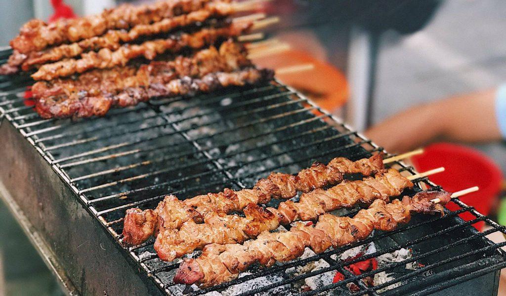 Brochette de porc grillé vietnamien